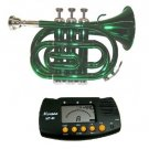 MERANO GREEN LACQUER POCKET TRUMPET WITH CASE