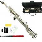 MERANO B Flat Silver Soprano Saxophone with Case