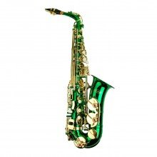 MERANO E Flat GREEN / Gold Alto Saxophone with Case