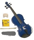Merano 1/10 Size Blue Acoustic Violin,Case,Bow+Rosin+2 Sets of Strings+2 Bridges