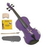 Merano 1/8 Size Purple Acoustic Violin,Case,Bow+Rosin+2 Sets of Strings+2 Bridges