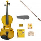 Merano 3/4 Size Gold Acoustic Violin,Case,Bow+Rosin+2 Sets of Strings+2 Bridges+Pitch Pipe