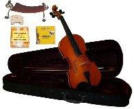 Merano 4/4 Size Natural Violin,Case,Bow+Rosin+2 Sets Strings+2 Bridges+Tuner+Shoulder Rest