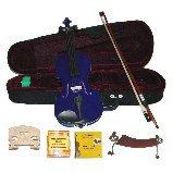 Merano 3/4 Size Purple Violin,Case,Bow+Rosin+2 Sets Strings+2 Bridges+Tuner+Shoulder Rest