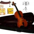 Merano 4/4 Size Violin,Case,Bow+Rosin+2 Sets Strings+2 Bridges+Tuner+Shoulder Rest+Music Stand