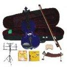 Merano 1/4 Size Purple Violin,Case,Bow+Rosin+2Sets Strings+2 Bridges+Tuner+Shoulder Rest+Music Stand