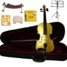 Merano 1/4 Size Gold Violin,Case,Bow+Rosin+2Sets Strings+2 Bridges+Tuner+Shoulder Rest+Music Stand