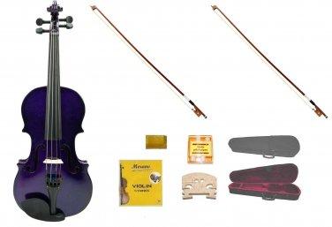Merano 4/4 Size Purple Violin,Case,2 Bows+Rosin+2 Sets of Strings+2 Bridges+Tuner
