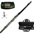 MERANO BLACK LACQUER PLATED FLUTE WITH CASE + Free Stand+Metro Tuner