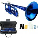 Merano B Flat Blue Trumpet with Case+Mouth Piece+Valve Oil