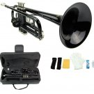 Merano B Flat Black Trumpet with Case+Mouth Piece+Valve Oil