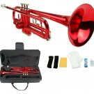 Merano B Flat Red Trumpet with Case+Mouth Piece+Valve Oil