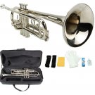 Merano B Flat Silver Nickel Trumpet with Case+Mouth Piece+Valve Oil