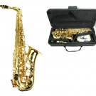 MERANO E Flat Gold Brass Alto Saxophone with Case and Accessories