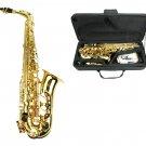 MERANO E Flat Gold Brass Alto Saxophone with Case and Accessories