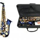 MERANO E Flat BLUE Alto Saxophone with Case and Accessories