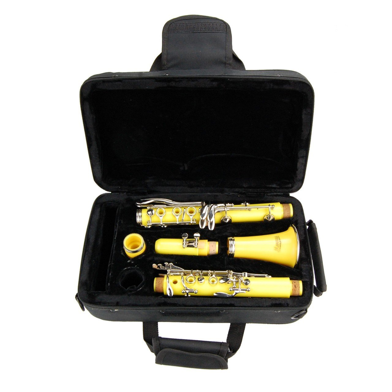 MERANO B Flat YELLOW Clarinet with Zippered Carrying Case+Extra 10 Reeds