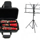 MERANO B Flat RED Clarinet with Zippered Carrying Case+Music Stand