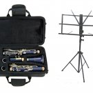 MERANO B Flat BLUE Clarinet with Zippered Carrying Case+Music Stand