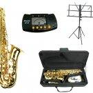 MERANO E Flat Gold Alto Saxophone with Case,Metro Tuner.Music Stand