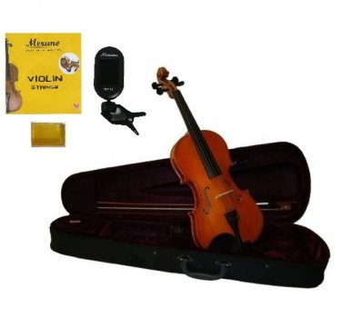 Merano 1/2 Size Acoustic Student Violin,Case,Bow+Rosin+2 Sets Strings+Chromatic Clip On Tuner