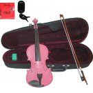 """Merano 14"""" Pink Viola,Case,Pink Stick Bow+Rosin+2 Sets Strings+Chromatic Clip On Tuner"""