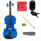 "Merano 16"" Blue Viola,Case,Blue Stick Bow+Rosin+2 Sets Strings+Chromatic Clip On Tuner"