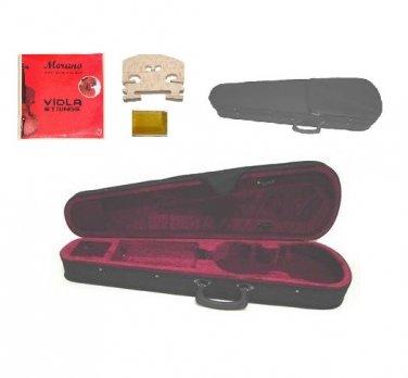 Merano CA100 15.5 inch Viola Case+Set Strings+Bridge+Rosin