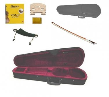 Merano CV100 1/8 Size Violin Case+A Set of Strings+Bridge+Rosin+Shoulder Rest+Bow