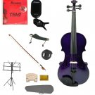 """Merano Acoustic 11"""" PURPLE Student Viola,Case,Bow & Much More"""