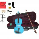 """Merano Acoustic 11"""" BLUE Student Viola,Case,Bow & Much More"""