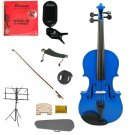 """Merano Acoustic 15"""" BLUE Student Viola,Case,Bow & Much More"""