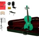 """Merano Acoustic 11"""" GREEN Student Viola,Case,Bow & Much More"""
