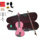 """Merano Acoustic 13"""" PINK Student Viola,Case,Bow & Much More"""