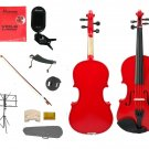 """Merano Acoustic 10"""" RED Student Viola,Case,Bow & Much More"""