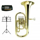 MERANO High Quality B Flat Gold Baritone with Case and Free Metro Tuner,Stand