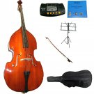 Merano 3/4 Natural Upright Double Bass,Bag,Bow,Adjustable Bridge+Strings+Rosin+Music Stand+Tuner