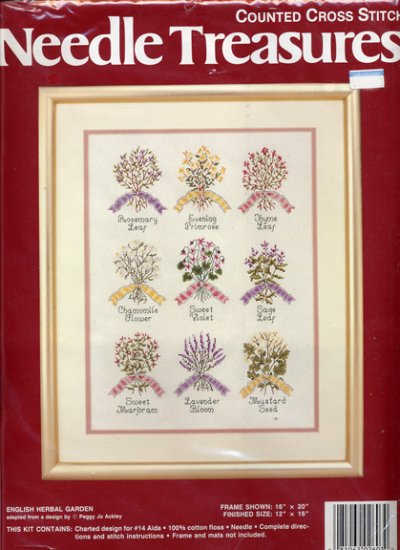 Needle Treasures English Herb Garden Cross Stitch Kit