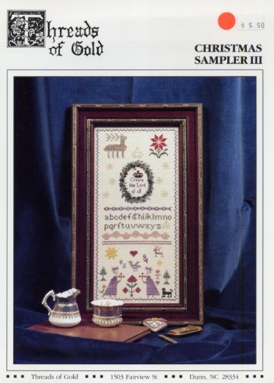 Christmas Sampler III (3) by Threads of Gold Leaflet Cross Stitch Pattern