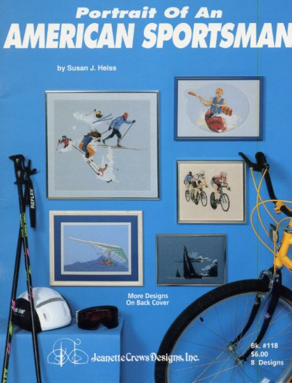 Biking, Kayaking, Skiing, Sailing, Hang Gliding in Cross Stitch Leaflet