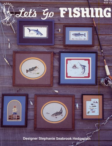 Lets Go Fishing Counted Cross Stitch by Pegasus