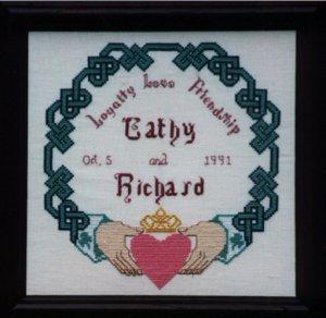 Irish Claddagh Knotwork Wedding Sampler