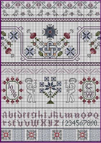 Celtic Winter 17th Century Style Sampler Cross Stitch