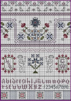 Celtic Winter 17th Century Style Sampler Cross Stitch