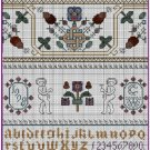 Celtic Autumn 17th Century Style Sampler Cross Stitch Pattern