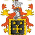 Allen Coat of Arms in Cross Stitch