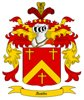 Austin Coat of Arms in Cross Stitch