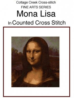 Mona Lisa in Counted Cross Stitch