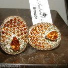 ANDREA CANDELA 18KT & STERLING CITRINE & GEMSTONE GRANADA EARRINGS NWT $1080.00