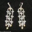 Judith Ripka WINDSOR COLLECTION 18kt Sterling Topaz Chandelier Earrings NEW SALE
